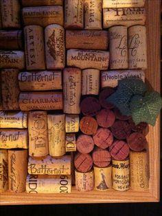 Wine Cork Board - Grapes