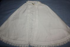 Ribbed Cotton and Eyelet Child's Cape Early 1900s