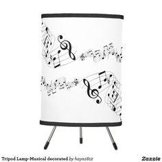 Tripod Lamp-Musical decorated