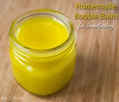 This homemade nipple cream has only three ingredients: beeswax, coconut oil, and shea butter.
