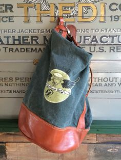 Thedileather bag. Combination canvas with leather.