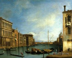 Giovanni Antonio Canal (called Canaletto),Venice:  The Grand Canal From The Campo San Vio oil painting reproductions for sale