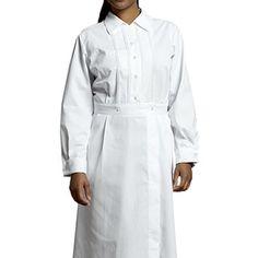 White Cross Womens Long Sleeve Pintuck Dress