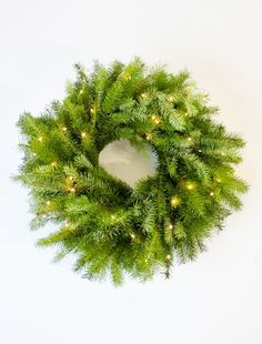 This no-fuss Evergreen DIY Christmas Wreath looks pretty just the way it is.