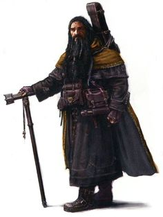 """Concept art for Bifur from """"The Hobbit: An Unexpected Journey"""" (2012).  The distinctive mustard yellow shade of his wardrobe is already evident even at this early stage preproduction."""