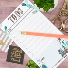 Free Printable Succulent To Do List from ohsopaper {store checkout required}