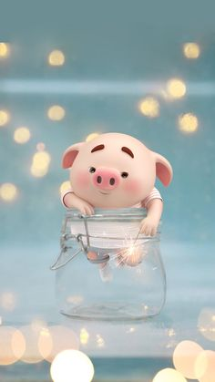 Pig Wallpaper, Cute Girl Wallpaper, Cute Wallpaper Backgrounds, Cute Cartoon Wallpapers, Disney Wallpaper, Nature Wallpaper, Cute Piglets, Pig Illustration, Funny Pigs