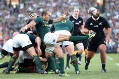 Fourie du Preez clears the lines against   New Zealand