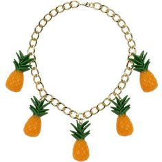 TOPSHOP Chunky Chain Pineapple Necklace