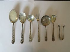 S Kirk & Son Repousse Sterling Server 7pc Lot. Available @ hamptonauction.com for the May 18, 2014 auction!