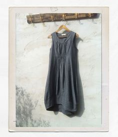 Scoop Hem Dress - Charcoal