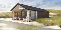Glamping am Strand: Strandhäuser in Holland ab 59 Urlaubstracker. Holiday Apartments, Lodges, Glamping, Modern Architecture, Netherlands, Beach House, Places To Go, Beautiful Places, Cottage