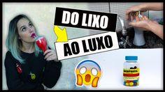 No DIY (Faça Você mesmo) de hoje, vou mostrar para vocês como transformar Lixo em Luxo; 3 ideias fáceis de fazer para decorar sua casa sem gastar muito. *Pla...