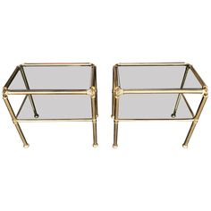 View this item and discover similar for sale at - A pair of Italian brass side tables with interesting corner detail, each with two smoked glass shelves. Shelves Above Toilet, Glass Shelves, Sofa Tables, Sofa Chair, Retro Furniture, Furniture Design, Brass Side Table, Antique Sideboard, Kingdom Of Great Britain
