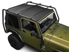 Barricade Off-Road Roof Rack in Textured Black for Jeep Wrangler TJ 1997-2006 Excluding Unlimited - BlackDogMods Jeep Wrangler Parts, 2006 Jeep Wrangler, Jeep Parts, Roof Rack Basket, Jeep Wrangler Accessories, Jeep Accessories, Cargo Rack, Badass Jeep, Kayak Rack