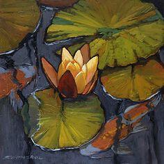 Jan Schmuckal - Work Detail: Lilies and Koi