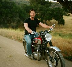 Gerard Butler by Sam Jones:: Gerard on a motorcycle?...Just. Ovulated.