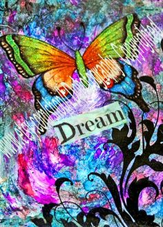 ACEO #Dream #Butterfly art trading card metallic photo collage | LDPhotography - Photography on ArtFire #afpounce