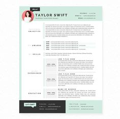 geometric pattern resume cover resume cv
