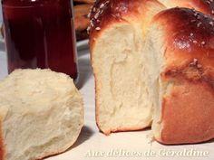 Zu Géraldines Genüssen: Brioche au fromage blanc ohne Butter und ohne Öl