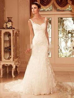2015 Lace Mermaid Wedding Dress Bridal Gown Custom Size 4 6 8 10 12 14 16 18+