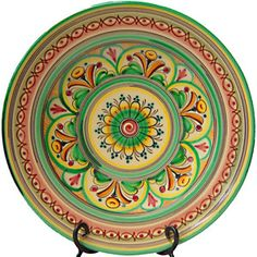 Charger Serving Plate. Antique Green