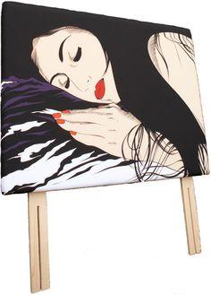 Jessica Bedframe. Azzopardi Art & Killymoon Upholstery Concept.