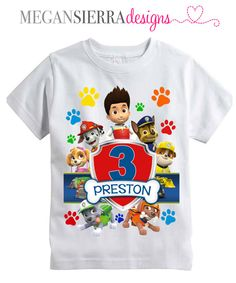 Hey, I found this really awesome Etsy listing at https://www.etsy.com/listing/213193959/paw-patrol-personalized-birthday-shirt