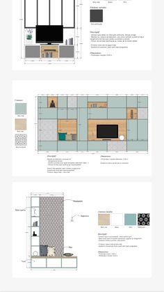 Tv Unit Interior Design, Interior Design Sketches, Interior Rendering, Modern Interior Design, Interior Styling, Interior Architecture, Interior Presentation, Design Studio Office, Pantry Design