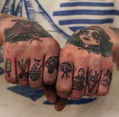 Johan Bigfatjoe Ankarfyr - amazing knuckle tattoos