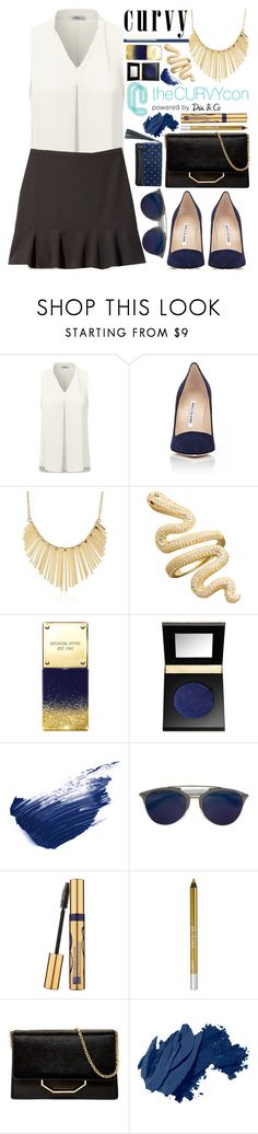 """Curvy and Fabulous! Vol II"" by nvoyce ❤ liked on Polyvore featuring Doublju, Manolo Blahnik, WithChic, Michael Kors, tarte, By Terry, Christian Dior, Estée Lauder, Urban Decay and Louise et Cie"