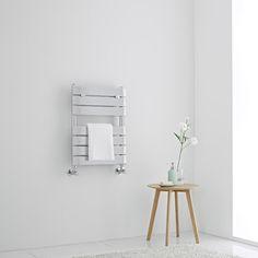 Milano Lustro - Designer Chrome Flat Panel Heated Towel Rail - x - All Milano - Milano - Shop by Brand - Heated Towel Rails Solid Brick, Brick And Wood, Wooden Flooring, Concrete Floors, Roof Insulation, Towel Radiator, Heated Towel Rail, Types Of Rooms, Wall Plug