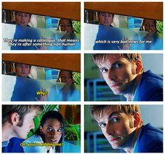 Doctor Who: Oh, he is not kidding, Martha. (gif)