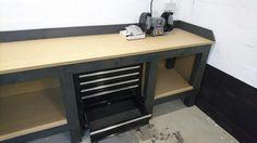 Wooden workbench Garage Renovation, Wood Working, Man Cave, Diy Projects, Desk, Furniture, Home Decor, Woodworking, Desktop