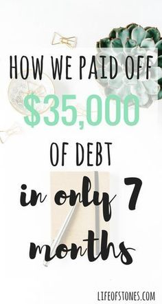 How we paid off $35,000 of debt in only 7 months using Dave Ramsey's Financial Peace program! Sharing some of the actionable steps we used on our debt-free journey!