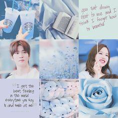 Mina & Jaehyun Moodboard - Blue - Adorable Weirdos