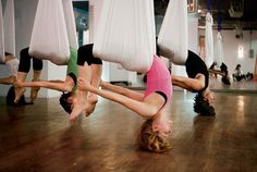 anti-gravity yoga. put this swing in my house