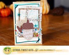 Fall card with Christin Gronnslett using the October 2015  Main kit & Pattern Paper kit #2