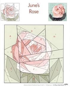 Mosaic rose pattern // why wouldn't it work for paper-pieced quilting?