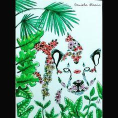 Proceso : Nature Leopardo Mi arte/my art #arte #art #artistoninstagram #artistontumblr #artista #artist #illustration #ilustracion #myart  #mywork