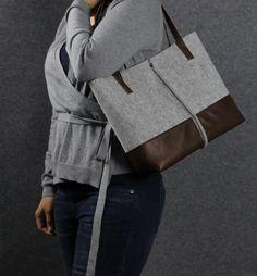 Leder-Tasche handgefertigte Tasche Filz Tasche Filz von AlmaMilano