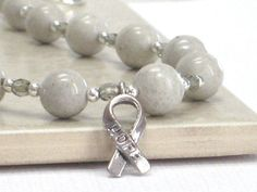 Diabetes Awareness Bracelet JDRF Gray Bracelet Hope by CCARIA, $15.00