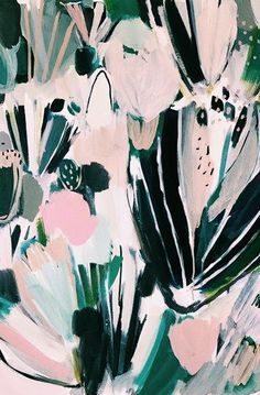 abstract print / illustration - looks like flowers to me