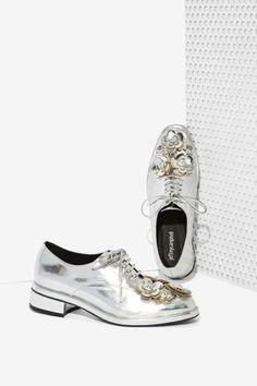 Jeffrey Campbell Novak Floral Shoe - Silver - Jeffrey Campbell