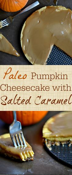 "Paleo and Vegan ""Cheesecake"" to the rescue!! You'll love this version that tastes like everything you want for the fall dessert."