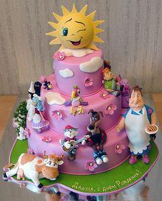 Happy sunshine decorated cake - beautiful sculpting