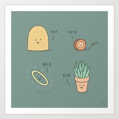 Hello Art Print by Jaco Haasbroek - $18.00
