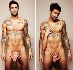 Rockstar / Yoga fanman Adam Levine of Maroon 5 gets sexy for prostate & testicular cancer prevention. My hubby is a TC survivor and well, Adam Levine in pretty hot. Adam Levine Tattoos, Tatuagens Do Adam Levine, Pretty People, Beautiful People, Pretty Guys, Simply Beautiful, Design Tattoo, Tattoo Designs, Wonder Woman