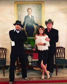 PsBattle: Kid Rock Sarah Palin and Ted Nugent visiting the White House