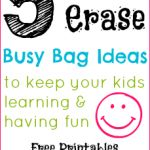 5 Dry Erase Busy Bag Ideas (Day 20) 31 Days of Busy Bags & Quiet Time Activities @ AllOurDays.com